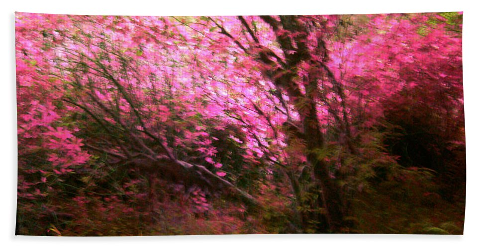 Pink Bath Sheet featuring the photograph The Pink Forest by Absinthe Art By Michelle LeAnn Scott