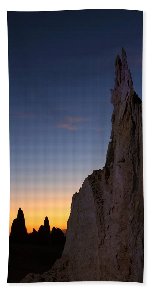 The Pinnacles Bath Sheet featuring the photograph The Pinnacles 2am-111069 by Andrew McInnes