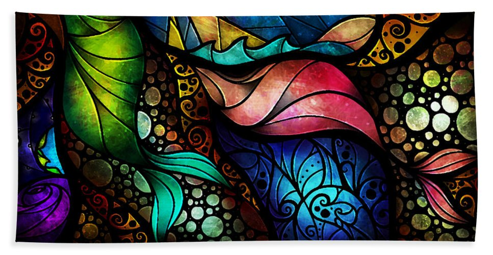 Woman Bath Sheet featuring the painting The Place Between Sleep And Awake by Mandie Manzano