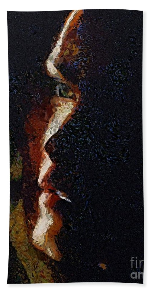 Face Hand Towel featuring the painting The Play Of Light by Dragica Micki Fortuna