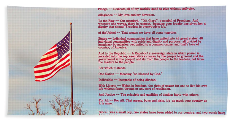 Pledge Hand Towel featuring the photograph The Pledge by Darrell Clakley