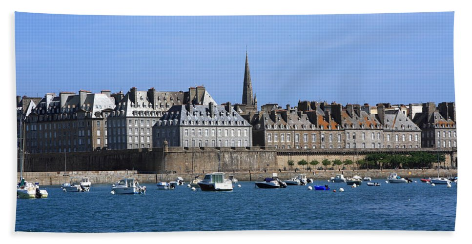 Port Hand Towel featuring the photograph The Port Of St Malo France by Aidan Moran