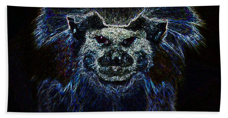 Primordial Past Hand Towel featuring the painting The Primordial Past by David Lee Thompson