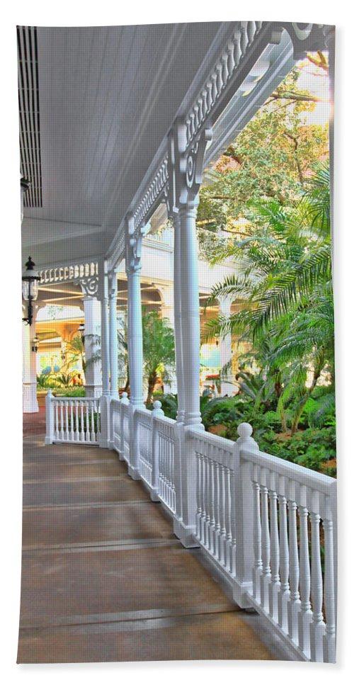 Grand Floridian Photograph Bath Sheet featuring the photograph The Promenade by Jim Garrison