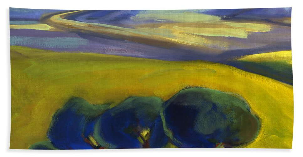 California Bath Sheet featuring the painting The Promise 2 by Konnie Kim