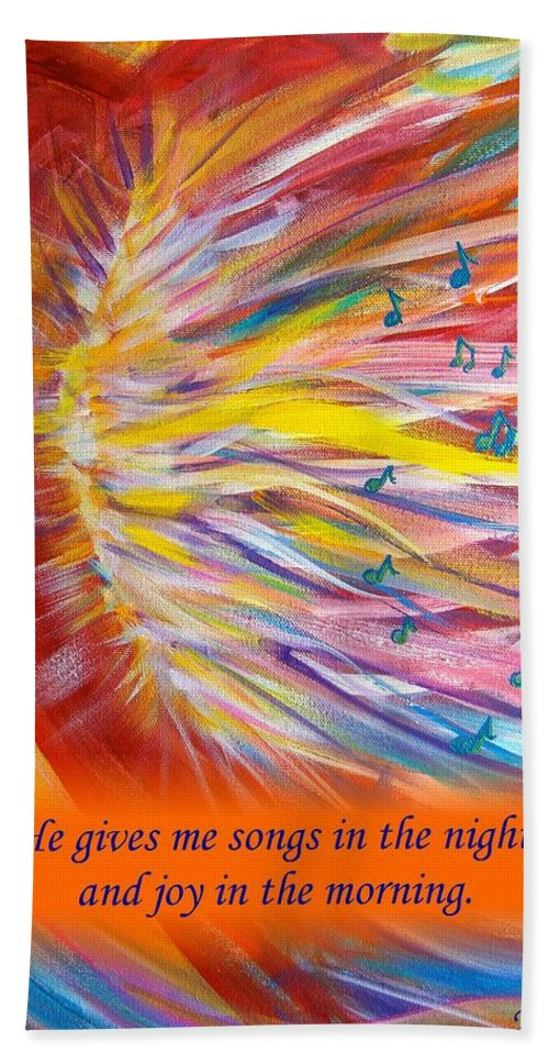 Prophetic Song Bath Sheet featuring the digital art The Prophetic Song by Jewell McChesney