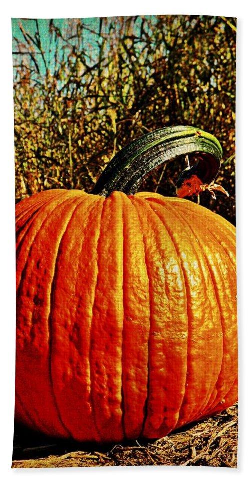 Halloween Bath Sheet featuring the photograph The Pumpkin by Chris Berry