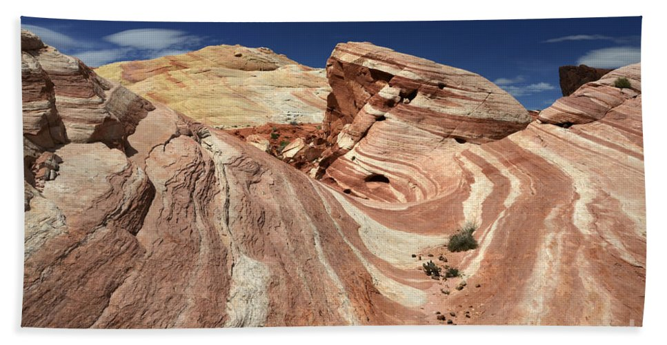 Valley Of Fire Bath Sheet featuring the photograph The Purple Wave 2 by Bob Christopher