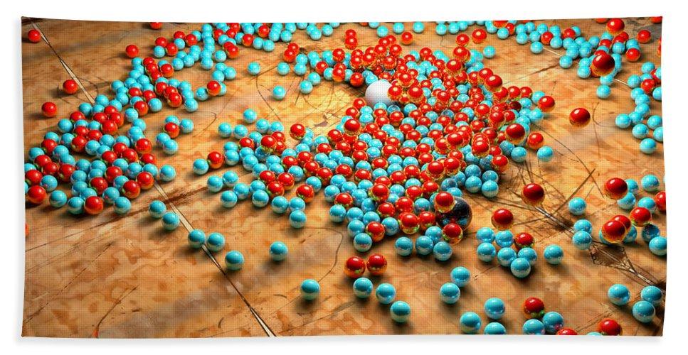 Balls Bath Sheet featuring the digital art The Race by Adam Vance