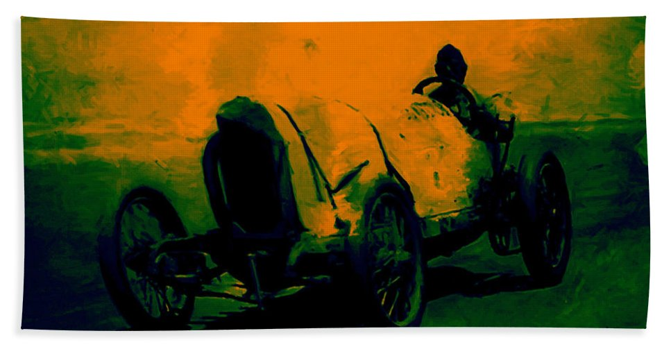 Transportation Bath Towel featuring the photograph The Racer - 20130207 by Wingsdomain Art and Photography