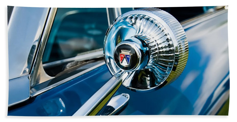 Classic Ford Hand Towel featuring the photograph The Side View Mirror by Robert VanDerWal