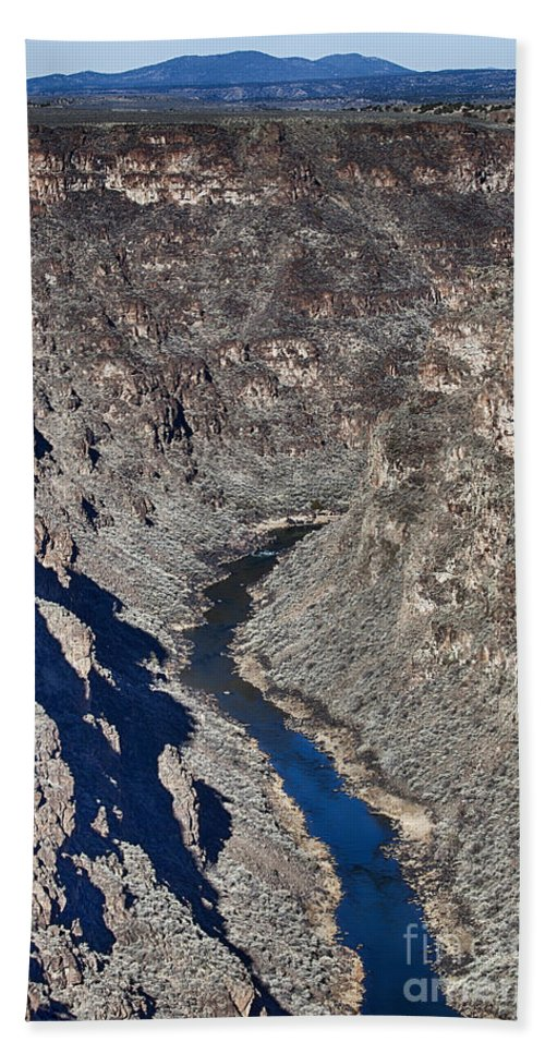 Bridge Bath Towel featuring the photograph The Rio Grande River-arizona by Douglas Barnard