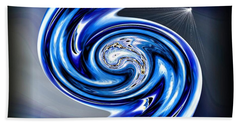 River Bath Sheet featuring the digital art The River Styx by Michael Damiani