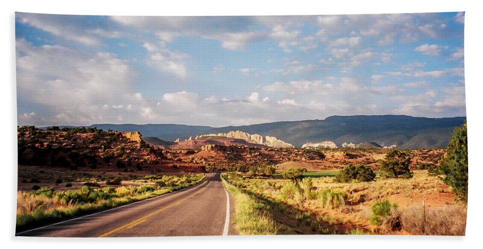 Utah Bath Sheet featuring the photograph The Road Less Traveled by Stacy Abbott