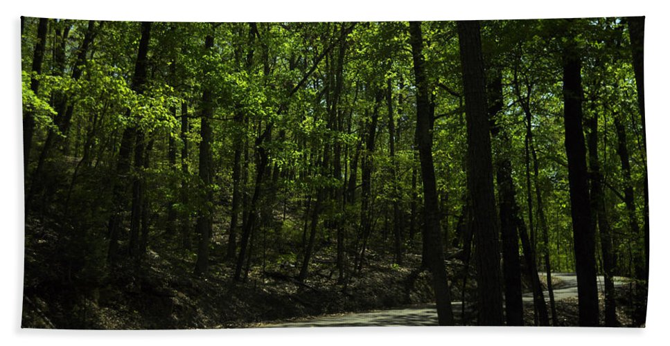 Road Hand Towel featuring the photograph The Roads Of Alabama by Verana Stark