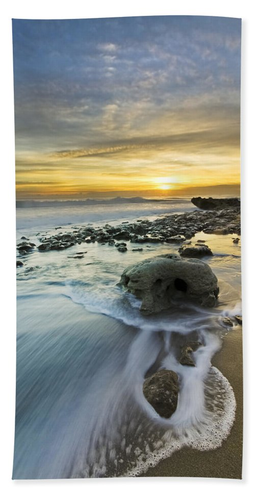 Clouds Hand Towel featuring the photograph The Rock by Debra and Dave Vanderlaan