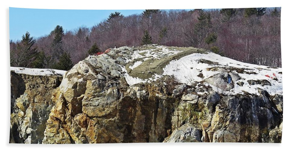 Rock Hand Towel featuring the photograph The Rock by MTBobbins Photography