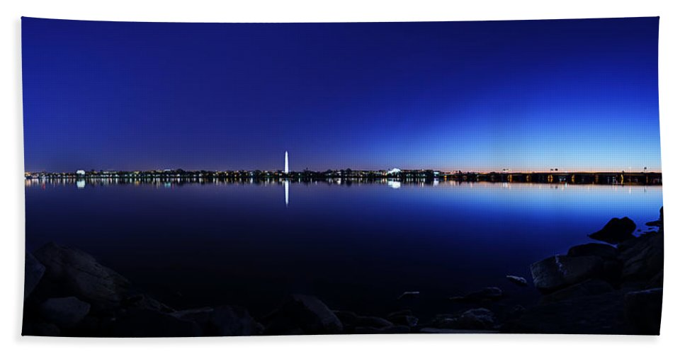 Metro Hand Towel featuring the photograph The Rocks Of The Potomac by Metro DC Photography