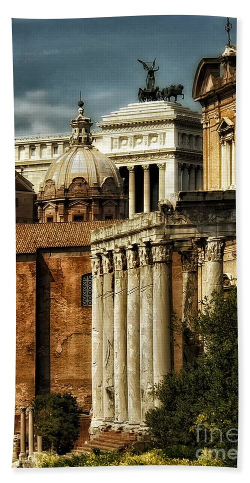 Rome Hand Towel featuring the photograph The Roman Forum 2 by Mike Nellums