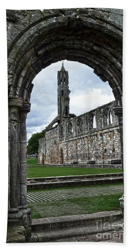 Ruins Hand Towel featuring the photograph The Ruins Of St Andrews Cathedral by RicardMN Photography