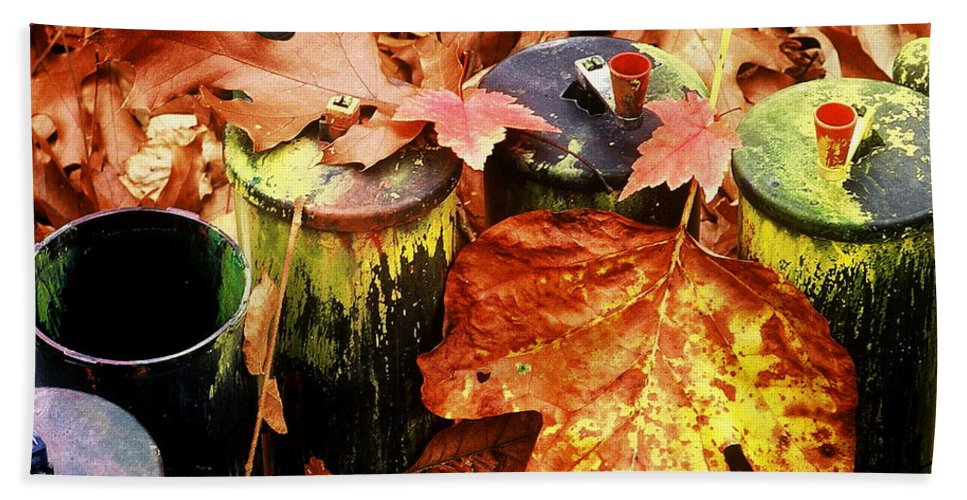 Fine Art Bath Sheet featuring the photograph The Secret Of Fall by Rodney Lee Williams