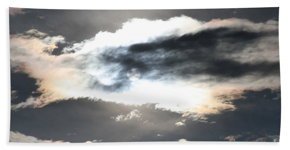 Sharon Mau Bath Sheet featuring the photograph The Secret Sky by Sharon Mau