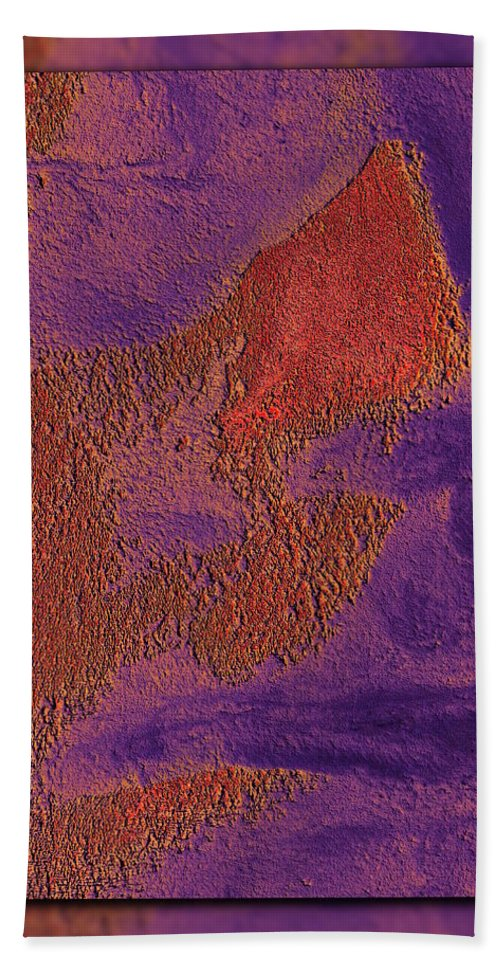Abstract Hand Towel featuring the digital art The Sentinel 17 by Tim Allen