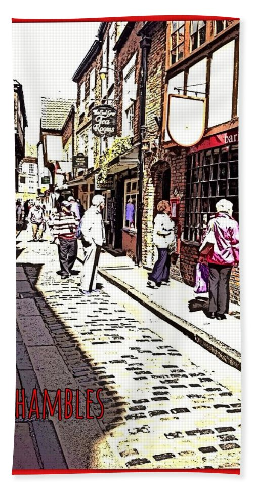 The Shambles York Hand Towel featuring the photograph The Shambles York by Joan-Violet Stretch