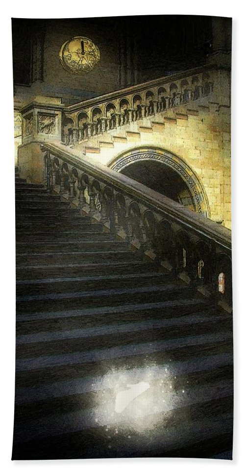 Architecture Hand Towel featuring the painting The Shoe Forgotten by RC DeWinter