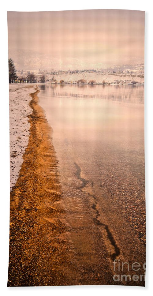Winter Hand Towel featuring the photograph The Shore In Winter by Tara Turner