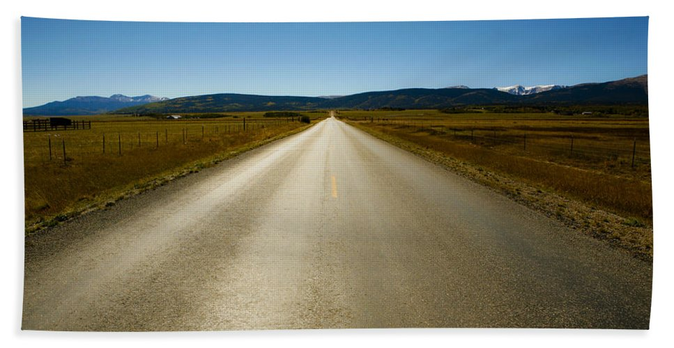 Road Bath Sheet featuring the photograph The Side Road by Marilyn Hunt