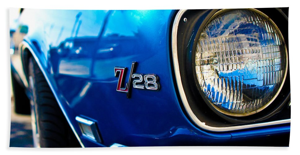 Classic Cars Hand Towel featuring the photograph The Six Eight by Digital Kulprits