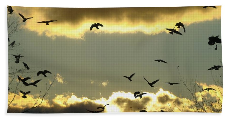 Clouds Bath Sheet featuring the photograph The Sky Opened by Gothicrow Images