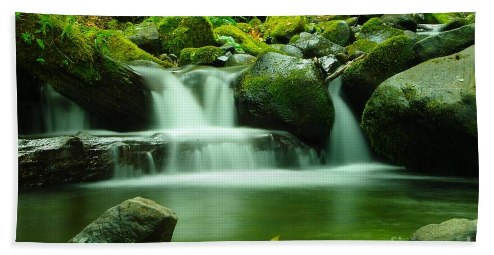 Water Hand Towel featuring the photograph The Small Water by Jeff Swan