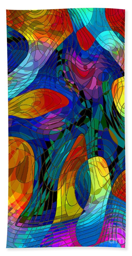 Snake-charmer Hand Towel featuring the digital art The Snake-charmer by Klara Acel