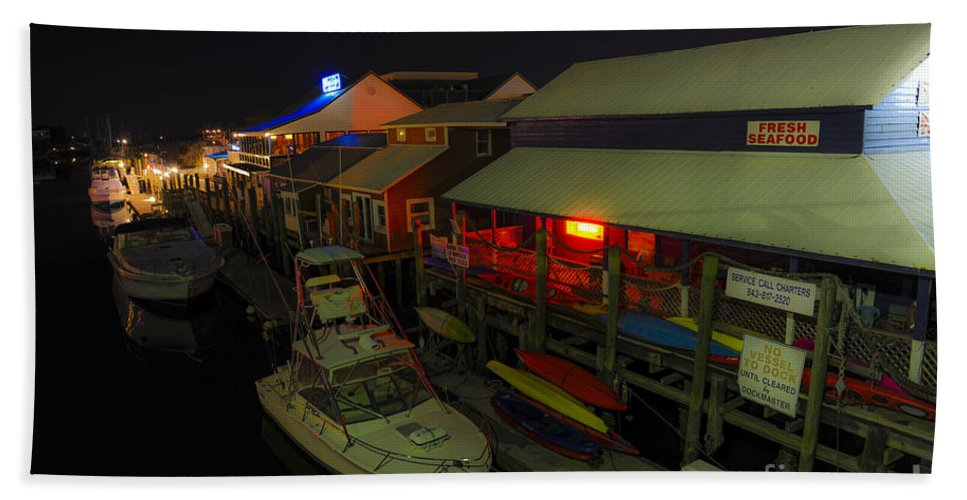 Shem Creek Hand Towel featuring the photograph The Solace Of Night by Dale Powell