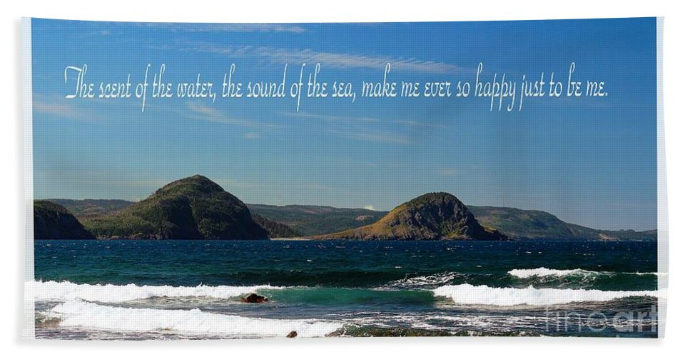 The Sound Of The Sea Hand Towel featuring the photograph The Sound Of The Sea by Barbara Griffin