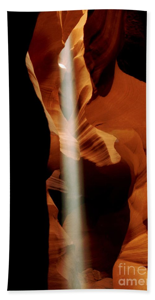 Antelope Canyon Bath Sheet featuring the photograph The Source by Kathy McClure