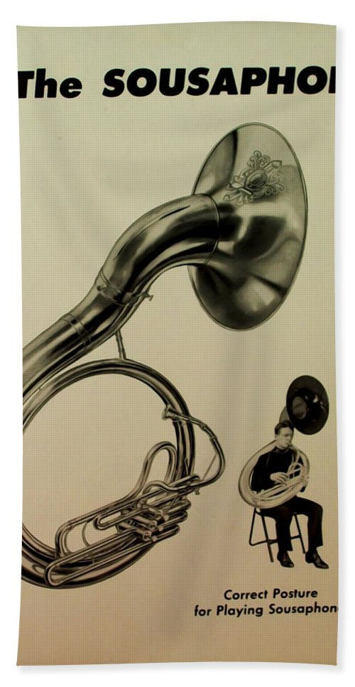 Sousaphone Bath Sheet featuring the photograph The Sousaphone by Bill Cannon