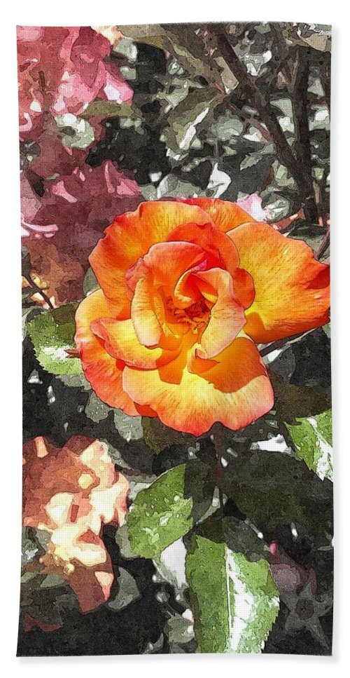 The Spring Rose Bath Sheet featuring the photograph The Spring Rose by Glenn McCarthy Art and Photography