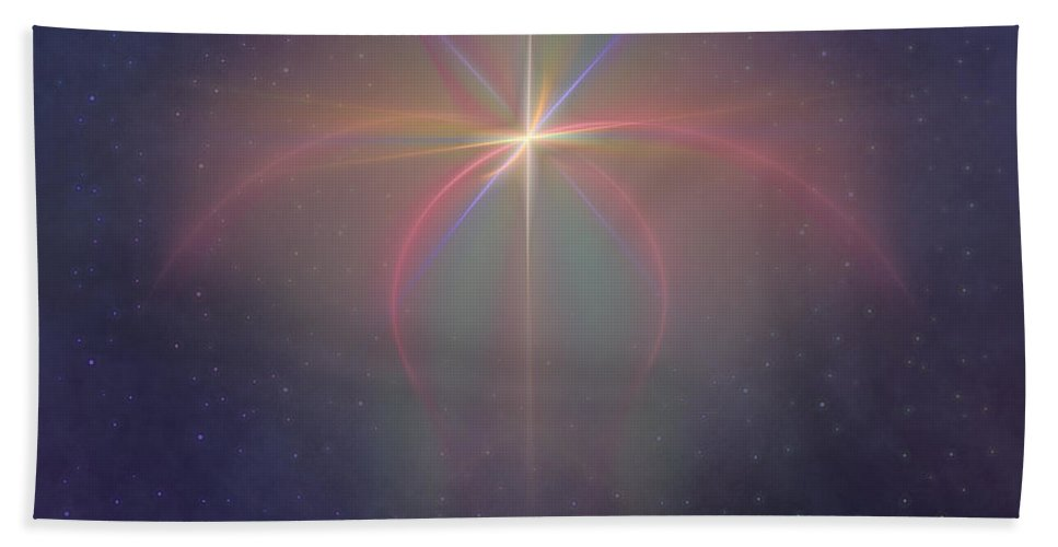 Religion Hand Towel featuring the digital art The Star Of Bethlehem by Diane Parnell