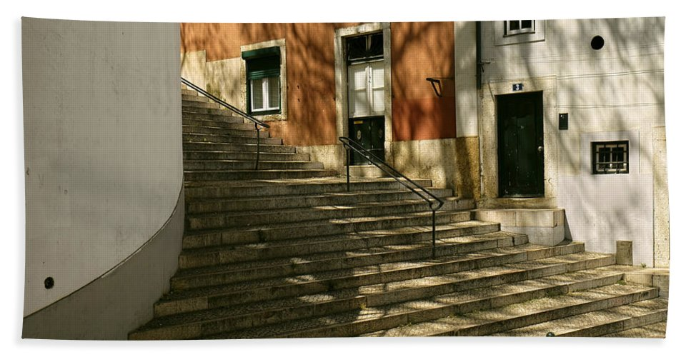 Lucinda Walter Hand Towel featuring the photograph The Steps by Lucinda Walter