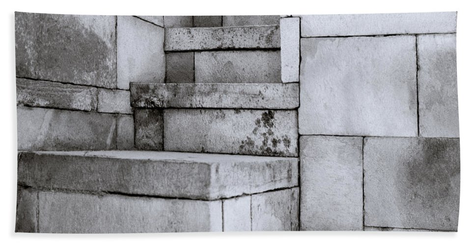 Minimalism Bath Sheet featuring the photograph The Steps by Shaun Higson
