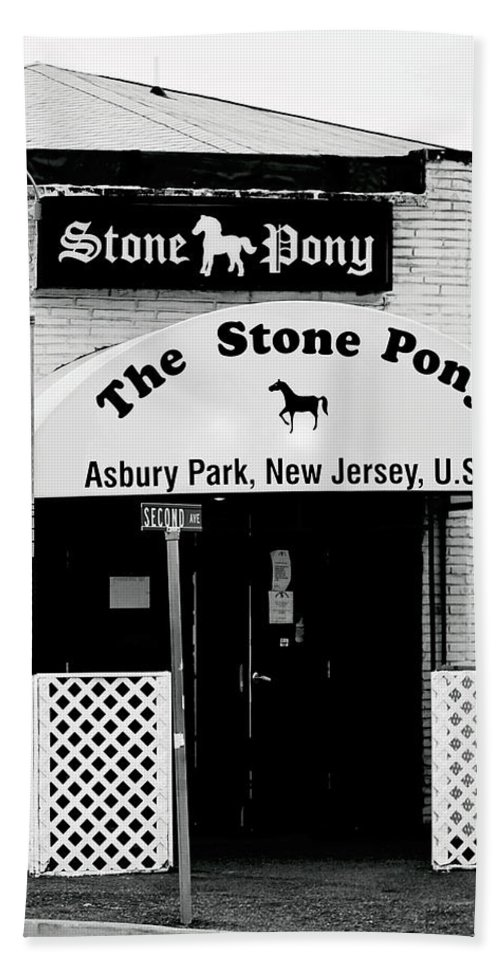 Stone Pony Hand Towel featuring the photograph The Stone Pony Asbury Park NJ by Terry DeLuco