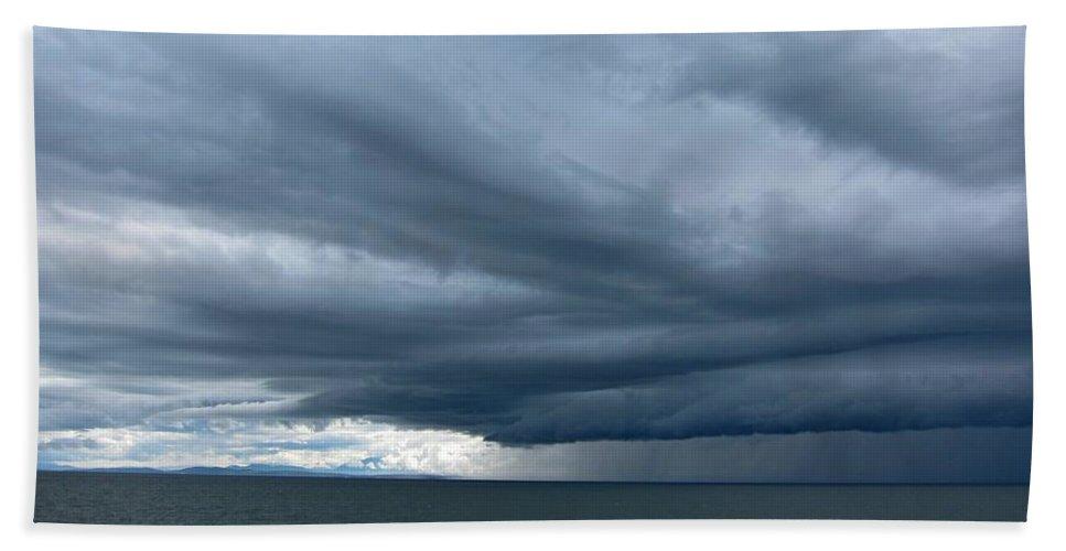 Landscape Bath Sheet featuring the photograph The Storm by Lena Photo Art