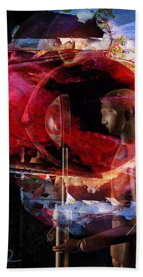 Storytelling Bath Sheet featuring the digital art The Storytelling Hour by David Derr