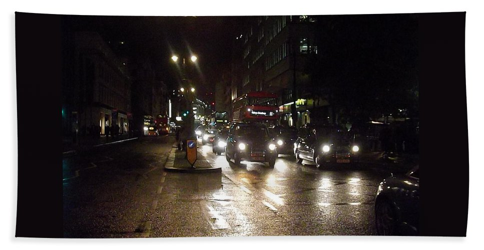 Landscape Hand Towel featuring the photograph The Strand London by Denise Morgan