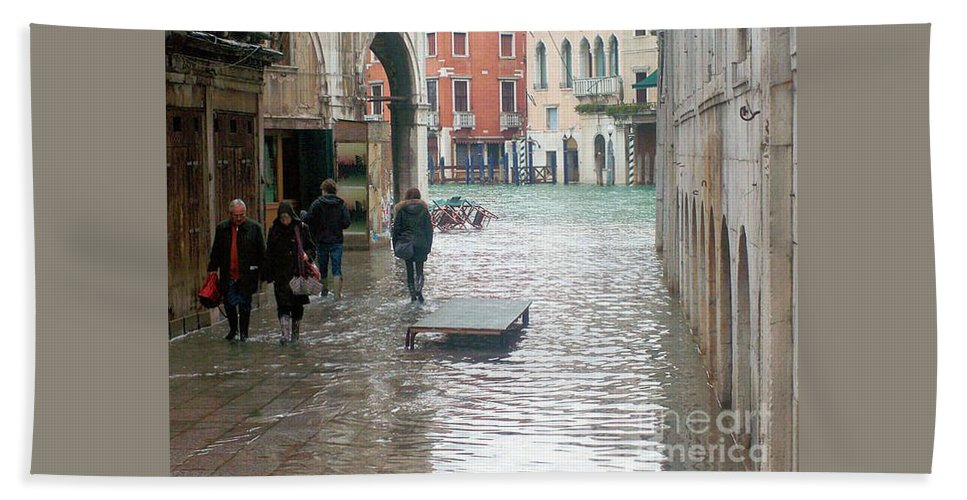 Venice Hand Towel featuring the photograph The Streets Of Venice by Christy Gendalia