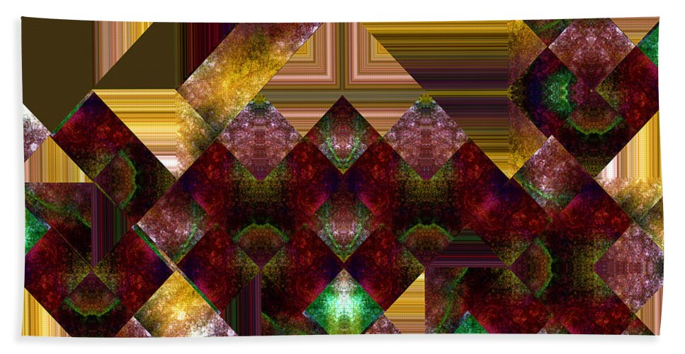 Abstract Bath Towel featuring the painting The Sublimation Of Desire by RC DeWinter