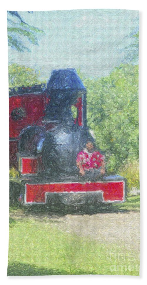 Coral Coast Bath Sheet featuring the photograph The Sugar Train by Diane Macdonald